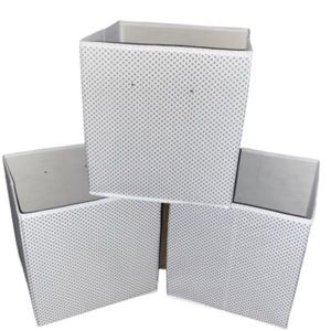 Lot of 3 Foldable Storage Bins Containers 10x10x10